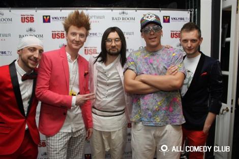 Музыкальные пародии USB на сцене клуба «Moskva»